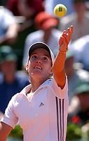 Tennis<br /> French Open 2003 07.06.2003<br /> Justine Henin-Hardenne fra Belgia<br /> Foto: Roger Parker, Digitalsport