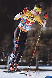 28.02.2021, Oberstdorf, GER, FIS Weltmeisterschaften Ski Nordisch, Oberstdorf 2021, Herren, Langlauf, Teamsprint, Freestyle, im Bild Janosch Brugger (GER) // Janosch Brugger of Germany during men Cross Country team sprint freestyle competition of the FIS Nordic Ski World Championships 2021 in Oberstdorf, Germany on 2021/02/28. EXPA Pictures © 2021, PhotoCredit: EXPA/ Dominik Angerer
