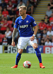 Chesterfield's Liam Cooper - photo mandatory by-line David Purday JMP- Tel: Mobile 07966 386802 09/08/14 - Leyton Orient v Chesterfield - SPORT - FOOTBALL - Sky Bet Leauge 1 - London -  Matchroom Stadium