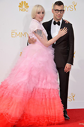 Jack Antonoff and Lena Dunham attend the 66th Annual Primetime Emmy Awards held at Nokia Theatre L.A. Live in Los Angeles, CA, USA, on August 25, 2014. Photo by Lionel Hahn/ABACAPRESS.COM    462906_014 Los Angeles Etats-Unis United States