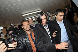 © London News Pictures. 03/11/2011. London, UK. Former Pakistan cricketer Mohammad Amir (centre)  arriving at Southwark Crown Court, London today (03/11/2011) where he is due to be sentenced for his part in a match-fixing scandal. Three Pakistan cricketers,  Salman Butt, Mohammad Asif and Mohammad Amir have been found guilty of conspiracy to cheat and conspiracy to obtain and accept corrupt payments.  Photo credit: Ben Cawthra/LNP