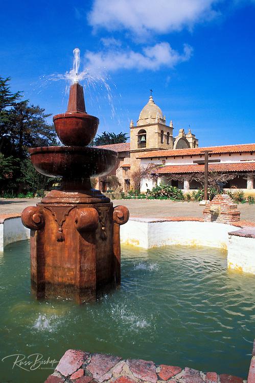 Fountain in the main courtyard at Mission San Carlos Borromeo de Carmelo (2nd California Mission), Carmel, California