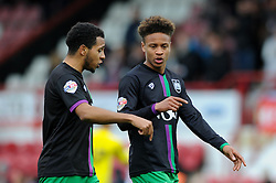Bobby Reid of Bristol City speaks with Korey Smith of Bristol City after the game - Mandatory by-line: Dougie Allward/JMP - 16/04/2016 - FOOTBALL - Griffin Park - Brentford, England - Brentford v Bristol City - Sky Bet Championship