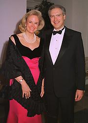 BARON & BARONESS GERARD de GUNZBURG, at a dinner in London on 30th November 1998.MMK 27