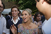 Eddie Redmayne and Clemency Burton-Hill, The Spectator At Home. Doughty St. 6 July 2006. ONE TIME USE ONLY - DO NOT ARCHIVE  © Copyright Photograph by Dafydd Jones 66 Stockwell Park Rd. London SW9 0DA Tel 020 7733 0108 www.dafjones.com