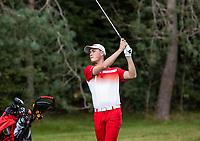 HILVERSUM - Hamish Brown (Den)  Sweden vs Denmark (3-0).  Quarter finals. ELTK Golf 2020 The Dutch Golf Federatio.n (NGF), The European Golf Federation (EGA) and the Hilversumsche Golf Club will organize Team European Championships for men. COPYRIGHT KOEN SUYK