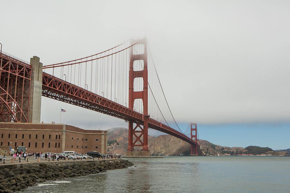 View of the Golden Gate Bridge in San Francisco, California. Copyright 2015 John O'Boyle<br /> john@johnoboyle.com