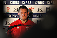 Gethin Jenkins, announced as capt for the match against England. Wales rugby team training and press conference at the Vale, Hensol near Cardiff, South Wales on Thursday 14th March 2013.  the team are training ahead of the final RBS Six nations match against England this weekend. pic by  Andrew Orchard, Andrew Orchard sports photography,