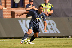 July 28, 2018 - Ann Arbor, MI, U.S. - ANN ARBOR, MI - JULY 28: Manchester United Forward Alexis Sanchez (7) in action during the ICC soccer match between Manchester United FC and Liverpool FC on July 28, 2018 at Michigan Stadium in Ann Arbor, MI (Photo by Allan Dranberg/Icon Sportswire) (Credit Image: © Allan Dranberg/Icon SMI via ZUMA Press)