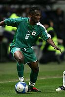Fotball<br /> Privatlandskamp<br /> 16.11.2005<br /> Italia v Elfenbenskysten <br /> Foto: Graffiti/Digitalsport<br /> NORWAY ONLY<br /> <br /> Didier Zokora Cote d'Ivoire