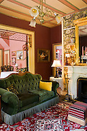 Interior Sitting room at The Shaw House Inn, a Victorian era Bed & Breakfast in Ferndale, California
