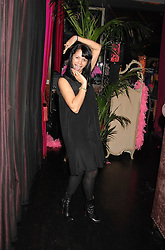 LISA MOORISH at a pajama party at The Cuckoo Club, Swallow Street, London on 2nd April 2008.<br />