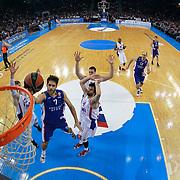 Anadolu Efes's Stratos Perperoglou (2ndL) during their Turkish Airlines Euroleague Basketball Top 16 Round 3 match Anadolu Efes between CSKA Moscow at Abdi ipekci arena in Istanbul, Turkey, Thursday 15, 2015. Photo by Aykut AKICI/TURKPIX
