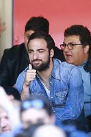 Gonzalo Higuain Napoli squalificato in tribuna. Disqualified on the stands   <br /> Napoli 10-04-2016 Stadio San Paolo<br /> Football Calcio Serie A 2015/2016 Napoli - Hellas Verona<br /> Foto Cesare Purini / Insidefoto