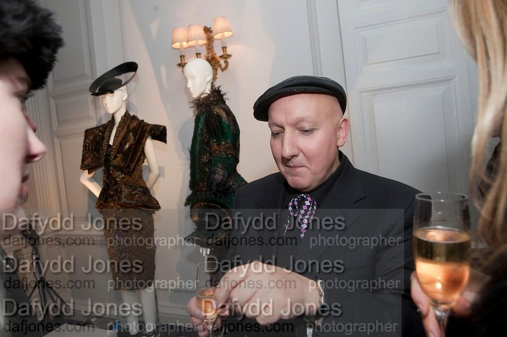 STEPHEN JONES, Unveiling of the Dior Christmas Tree by John Galliano at Claridge's. London. 1 December 2009