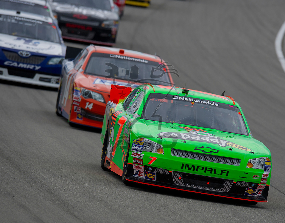 Joliet,Il - JUL 21, 2012: Danica Patrick (7) during the STP 300 at Chicagoland Speedway in Joliet, Il.