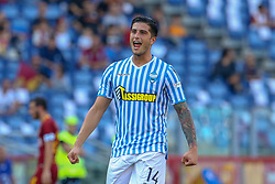 October 20, 2018 - Rome, Rome, Italy - 20th October 2018, Stadio Olimpico, Rome, Italy; Serie A Football, Roma versus Spal; Kevin Bonifazi of Spal celebrates after scoring his goal for the 0-2 in the 56th minute (Credit Image: © Giampiero Sposito/Pacific Press via ZUMA Wire)