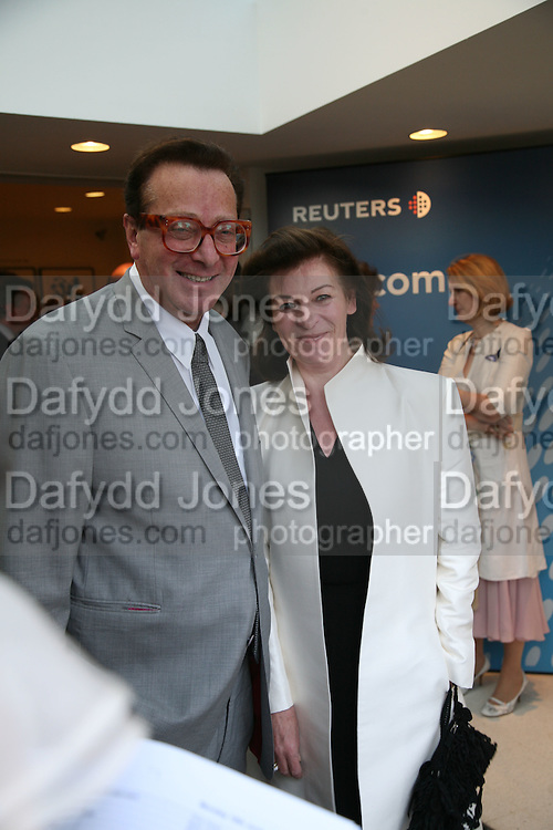 Maurice Saatchi and Josephine Hart, Launch of Tina Brown's book 'The Diana Chronicles' hosted by Reuters. Serpentine Gallery. 18 June 2007.  -DO NOT ARCHIVE-© Copyright Photograph by Dafydd Jones. 248 Clapham Rd. London SW9 0PZ. Tel 0207 820 0771. www.dafjones.com.