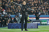 Thomas Tuchel during the Champions League Round of 16 2nd leg match between Paris Saint-Germain and Manchester United at Parc des Princes, Paris, France on 6 March 2019.