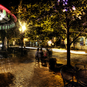 Laclede's Landing, St. Louis at night, 2008.