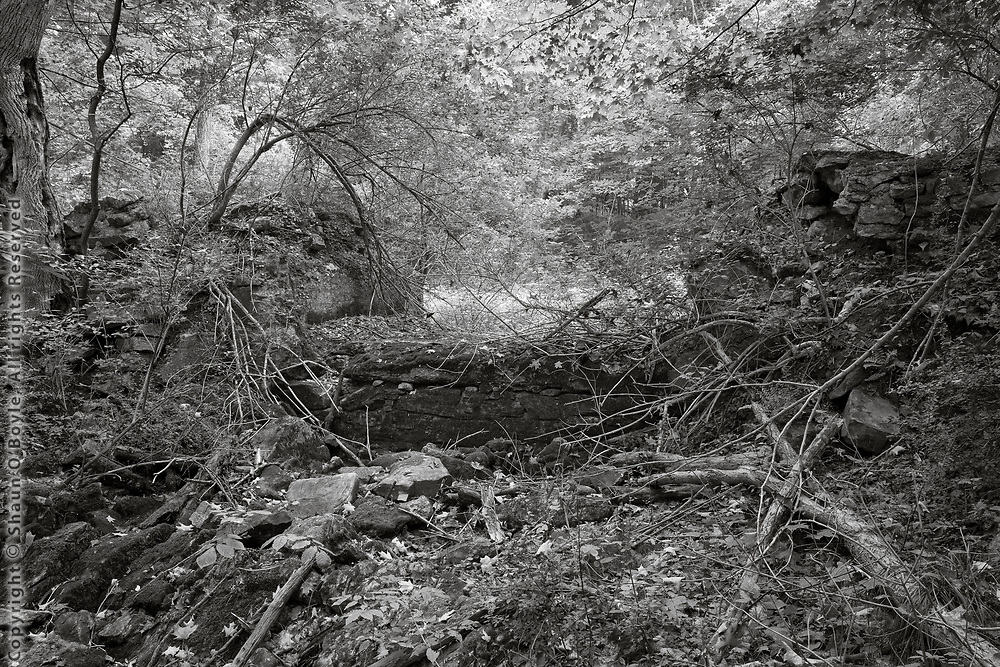 Abandoned Dam Spillway near Pontoosuc Lake, West Branch, Pittsfield, MA