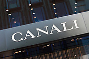 Sign for high end fashion and exclusive brand Canali.