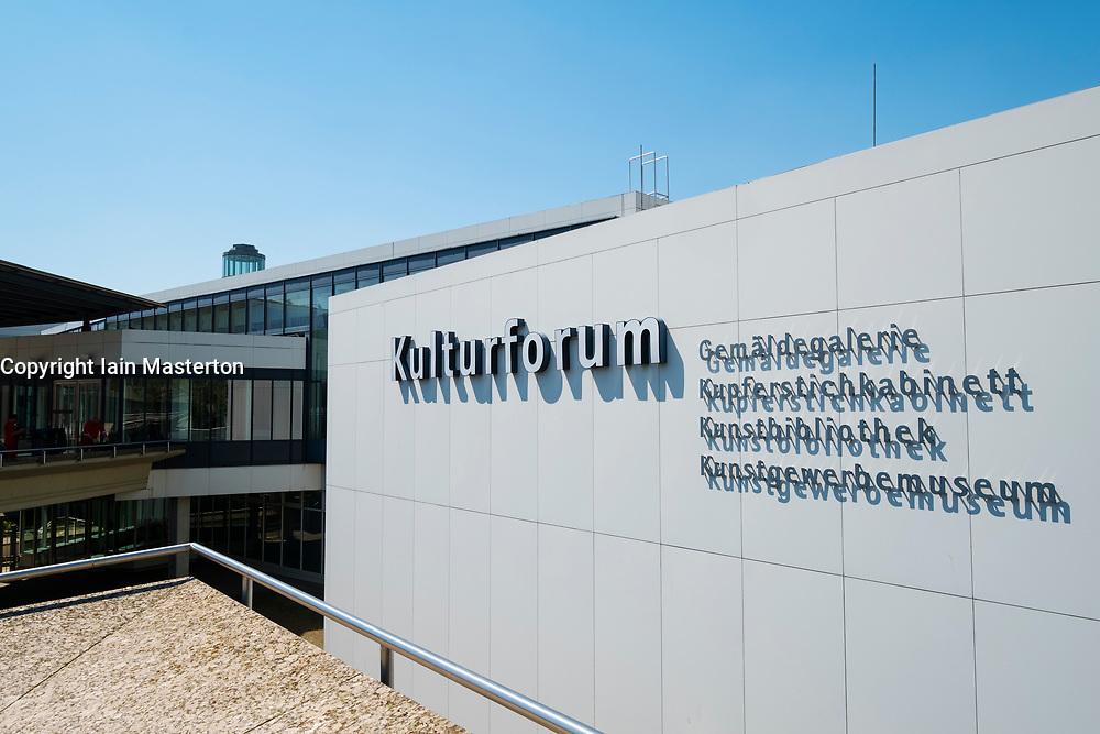Exterior view of Kulturforum complex of museums in Berlin Germany