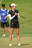 Esther Henseleit (GER) reacts to barely missing her putt on 1 during round 2 of the 2020 ANA Inspiration, Mission Hills C.C., Rancho Mirage, California, USA. 9/11/2020.<br /> Picture: Golffile | Ken Murray<br /> <br /> All photo usage must carry mandatory copyright credit (© Golffile | Ken Murray)