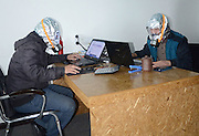 NANCHONG, CHINA - NOVEMBER 05: china out - finland out<br /> <br /> Office workers wear gas mask at office due to formaldehyde leak on November 05, 2013 in Nanchong, Sichuan province of China. <br /> ©Exclusivepix