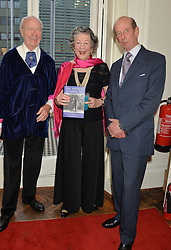 Left to right, VINCENT POKLEWSKI KOZIELL, his wife VICTORIA and HRH The DUKE OF KENT at a party to celebrate the publication on 'The Ape Has Stabbed Me' by Vincent Poklewski Koziell held at The Polish Club, 55 Exhibition Road, London on 1st May 2014.