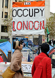 © Licensed to London News Pictures. 24/11/2011, London, UK. Occupy UK protest camp at St Paul's Cathedral today 24 November 2011. Photo credit : Stephen Simpson/LNP