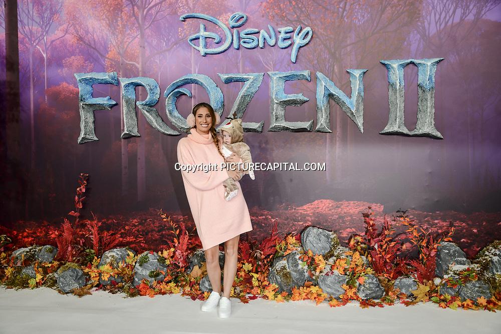 Stacey Solomon attend European Premiere of Frozen 2 on 17 November 2019, BFI Southbank, London, UK.