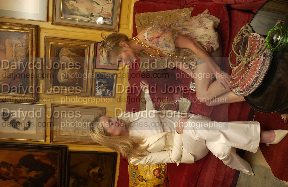 Kadee robins and Brooke de Campo, Cartier, Alexander McQueen and Viking hold a party  for Plum Sykes's book Bergdorf Blondes, Annabel's. 4 May 2004. SUPPLIED FOR ONE-TIME USE ONLY> DO NOT ARCHIVE. © Copyright Photograph by Dafydd Jones 66 Stockwell Park Rd. London SW9 0DA Tel 020 7733 0108 www.dafjones.com