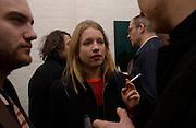 Sophie Helleman, Opening of Carl Freidman's Counter Editions, Charlotte Rd. 11 March 2003. © Copyright Photograph by Dafydd Jones 66 Stockwell Park Rd. London SW9 0DA Tel 020 7733 0108 www.dafjones.com