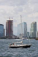 Yacht seen from Manhattan New York October 2008
