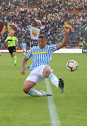 October 20, 2018 - Rome, Lazio, Italy - Kevin Bonifazi during the Italian Serie A football match between A.S. Roma and Spal at the Olympic Stadium in Rome, on october 20, 2018. (Credit Image: © Silvia Lore/NurPhoto via ZUMA Press)