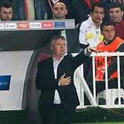 Turkey's coach Guus HIDDINK during their UEFA EURO 2012 Qualifying round Group A soccer match Turkey betwen Austria at Sukru Saracoglu stadium in Istanbul March 29, 2011. Photo by TURKPIX