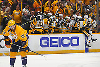 in Game Four of the 2017 NHL Stanley Cup Final at Bridgestone Arena on June 11, 2017