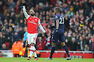 Arsenal's Alexandre Lacazette celebrates after his team win the Premier League match at the Emirates Stadium, London. Picture date: 7th March 2020. Picture credit should read: Paul Terry/Sportimage