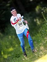 Orientering, 21. juni 2002. NM sprint. Zsuzsa Fey, Tyrving.