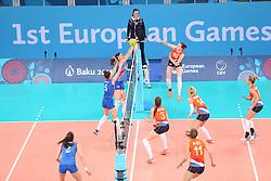 20150619 AZE: 1ste European Games Baku Servie - Nederland, Bakoe<br /> Nederland verslaat Servie met 3-2 /Lonneke Sloetjes #10