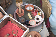 Roman cosmetics, Chedworth Roman villa, near Cirencester, Gloucestershire, England