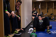 DALLAS, TX - MARCH 14:  Anthony Pettis waits backstage before his fight against Rafael Dos Anjos during UFC 185 at the American Airlines Center on March 14, 2015 in Dallas, Texas. (Photo by Cooper Neill/Zuffa LLC/Zuffa LLC via Getty Images) *** Local Caption *** Anthony Pettis