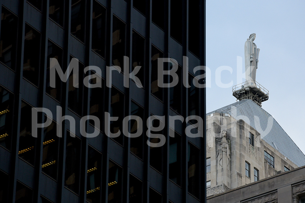 Statue of Ceres, the Roman goddess of agriculture tops the Chicago Board of Trade, CBOT, building in Chicago, Illinois. Photo by Mark Black