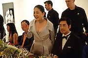 DOWAGER VISCOUNTESS ROTHERMERE, Korean Eye Dinner  hosted by The Dowager Viscountess Rothermere and Simon De Pury.Sponsored by CJ, Korean Food Globalization Team, Hino Consulting and Visit Korea Committee. Phillips de Pury Space, Saatchi Gallery.  Sloane Sq. London. 2 July 2009.