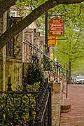 Looking down Washington Street near the Red Fox Inn Restaurant