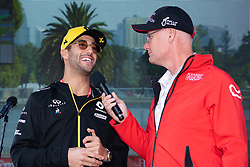 March 16, 2019 - Albert Park, VIC, U.S. - ALBERT PARK, VIC - MARCH 16: Renault F1 Team driver Daniel Ricciardo interviewed at The Australian Formula One Grand Prix on March 16, 2019, at The Melbourne Grand Prix Circuit in Albert Park, Australia. (Photo by Speed Media/Icon Sportswire) (Credit Image: © Steven Markham/Icon SMI via ZUMA Press)