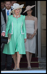 May 22, 2018 - London, London, United Kingdom - Image licensed to i-Images Picture Agency. 22/05/2018. London, United Kingdom. The Duchess of Cornwall and Duchess of Sussex at the Prince of Wales' 70th Birthday Patronage Celebration in the gardens of  Buckingham Palace in London. (Credit Image: © Stephen Lock/i-Images via ZUMA Press)
