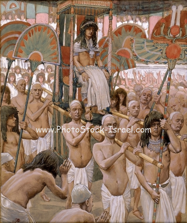 The Glory of Joseph Gouache paint on cardboard by James Tissot  1896-1902