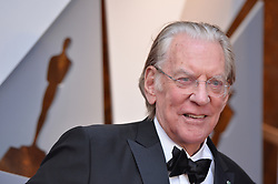 Donald Sutherland walking the red carpet as arriving to the 90th annual Academy Awards (Oscars) held at the Dolby Theatre in Los Angeles, CA, USA, on March 4, 2018. Photo by Lionel Hahn/ABACAPRESS.COM
